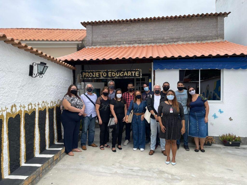 Equipe do Jornal Dr1 visita Projeto Educarte, em Santa Cruz
